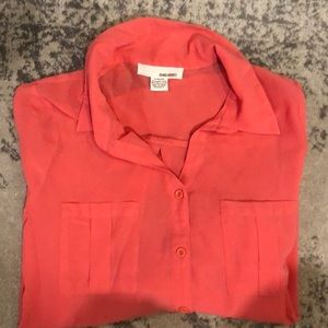 Cute coral pink blouse